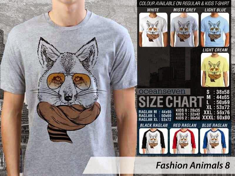 Kaos Fashion Animals 8 Binatang Kucing Cat distro ocean seven