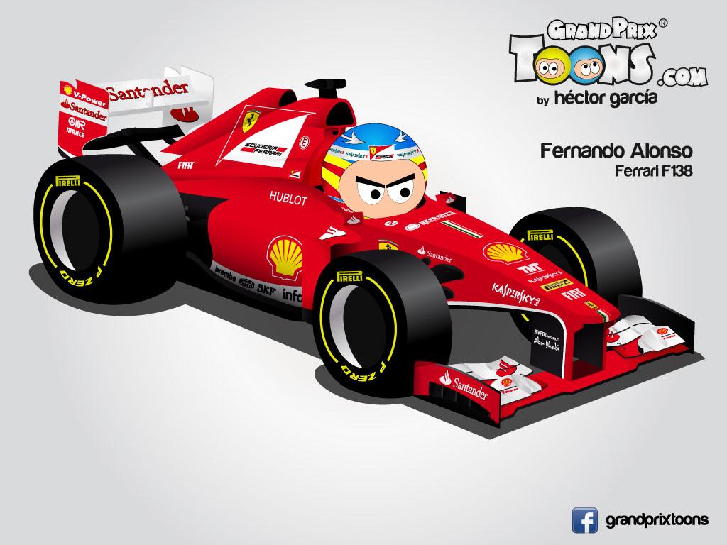 Фернандо Алонсо Ferrari F138 Grand Prix Toons 2013