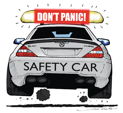 сэйфти-кар Mercedes - комикс Jim Bamber