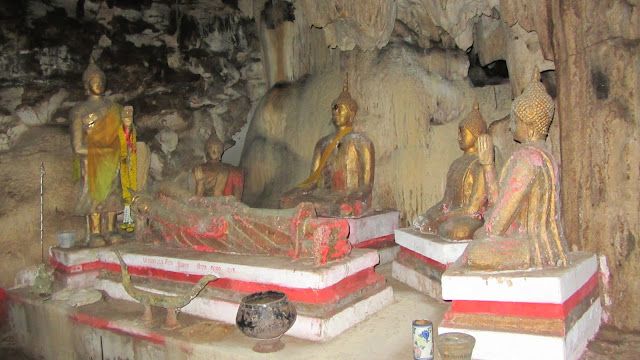 An altar in the cave.