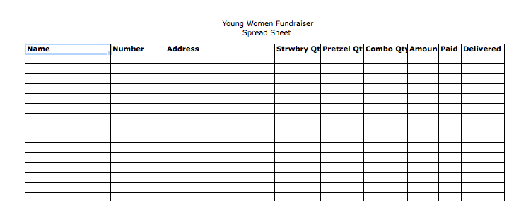 free fundraiser order form template .