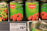Strawberries Here Are Only in Cans ($2.50 each) -- Qaqortoq, Greenland
