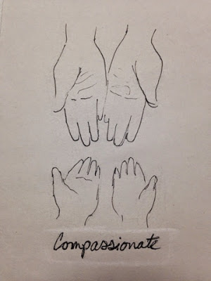 97 Hearts compassionate hands drawing