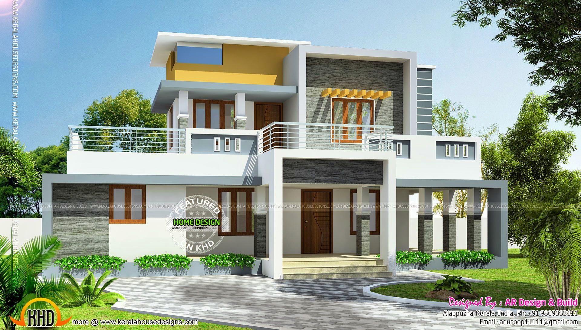 Modern Flat Roof House In 244 Square Yards Kerala Home Design And