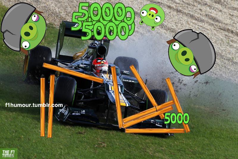 Хейкки Ковалайнен Caterham Angry Birds в действии фотошоп by F1Humour