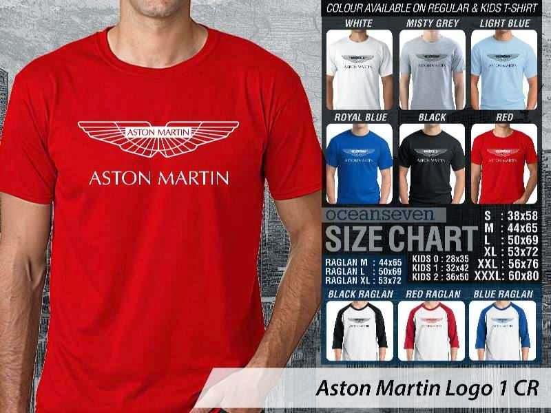 KAOS Aston Martin Logo Otomotif distro ocean seven