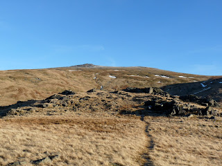 Raise and Brown Crag on the path back to Stanah