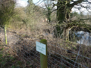Danger sign on Calwich Abbey Estate