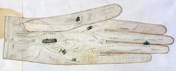 El guante mapa de 1851