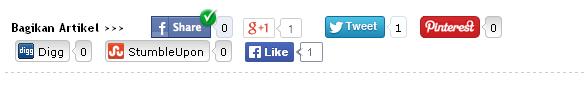 Cara membuat tombol sosial media share