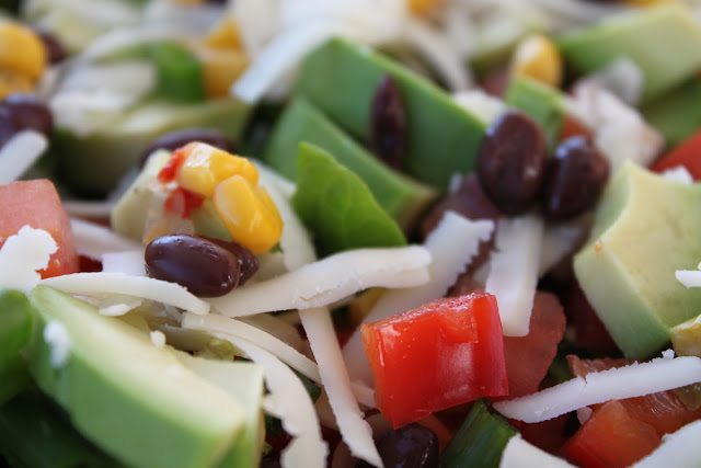 Southwest Salad with Cilantro Honey Lime Dressing