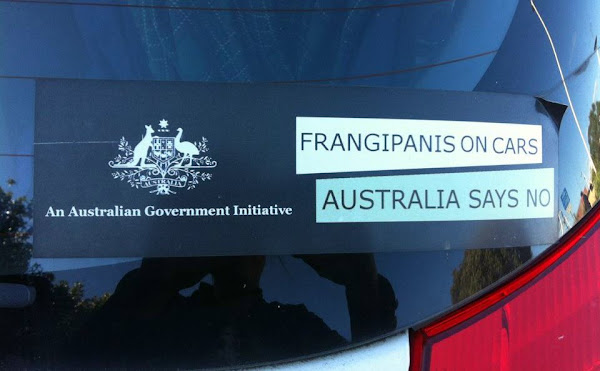 anti frangipani sticker