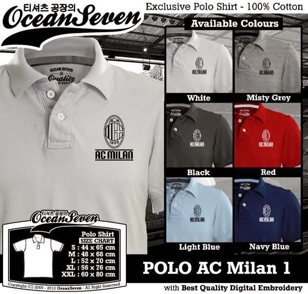 POLO AC Milan 1 Liga Italia distro ocean seven