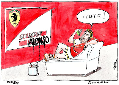 комикс Black Flag Фернандо Алонсо Scuderia Alonso 2011
