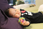 LePort Private School Irvine - Infant exploring ball at Montessori daycare