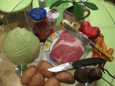 інгредієнти для борщу
