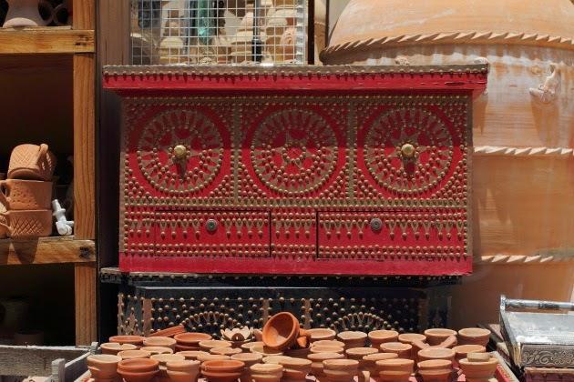 Large and Beautiful Mandoos for sale at Nizwa Souk, Oman