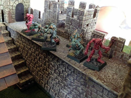 Ghouls and Ghasts command the southeast wall