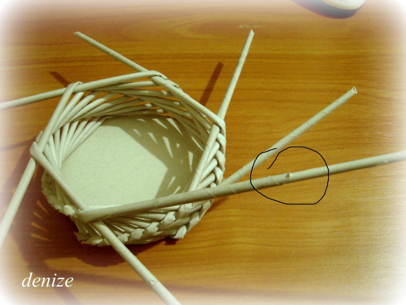 Плетение из газет своими руками спиральное плетение
