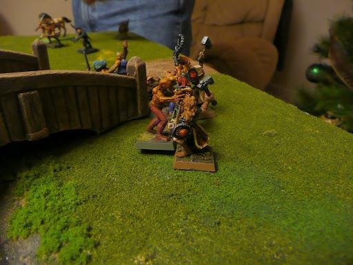 Killing zombies guarding the bridge
