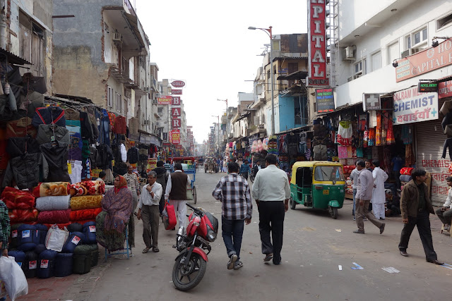 Paharganj, by New Delhi's railway station - home to backpackers and many of the city's street children.