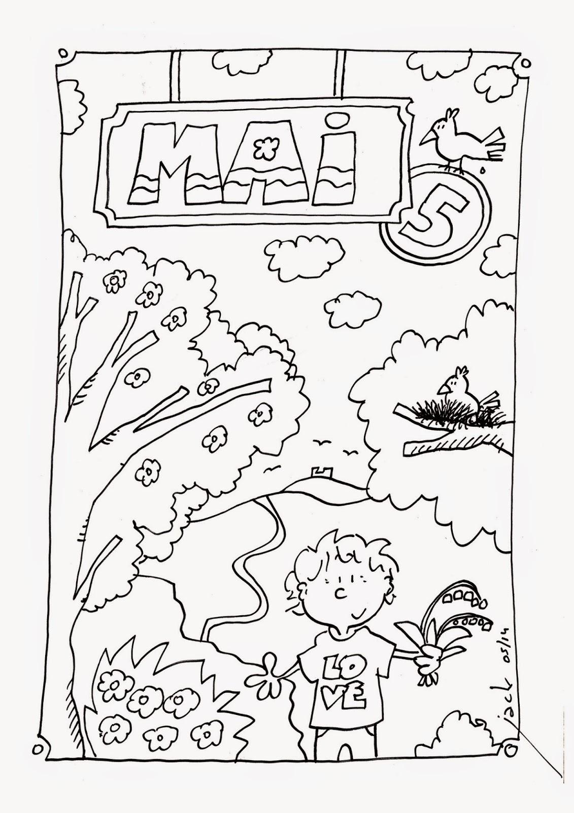 Dessin a colorier maternelle - Coloriage enfant maternelle ...