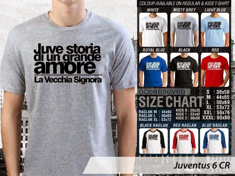 Kaos Bola Juventus 6 Lega Calcio distro