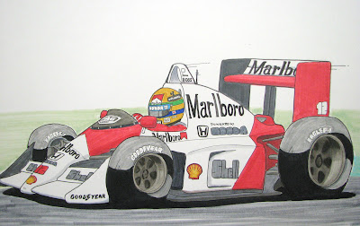 Айртон Сенна 1988 McLaren MP4-4 by mamibou