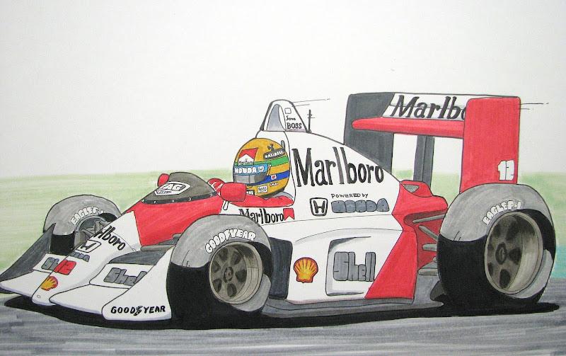Айртон Сенна 1988 McLaren MP4-4 by mamibou