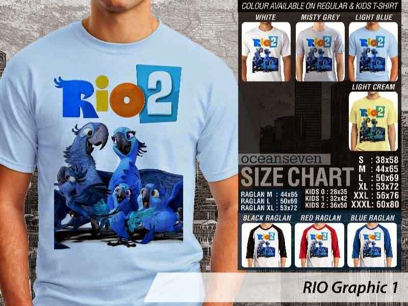 Kaos Film Animasi Lucu Desain RIO Graphic 1 distro ocean seven