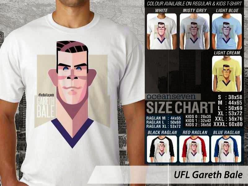 KAOS Gareth Bale Kartun Bola distro ocean seven