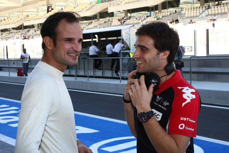 Витантонио Льюцци и Жером Д'Амброзио на Гран-при Абу-Даби 2011