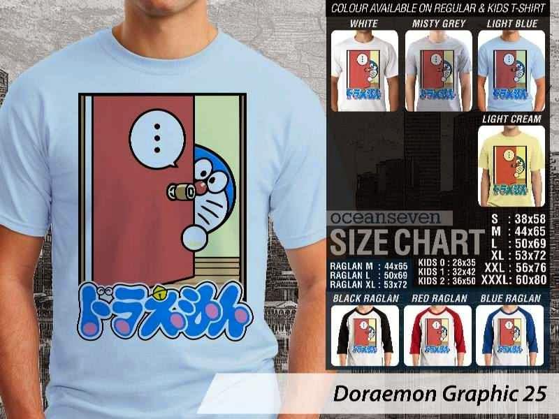 KAOS Doraemon 65 Manga Lucu distro ocean seven