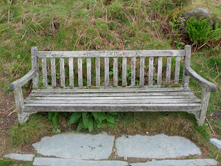 A bench on Loughrigg Terrace