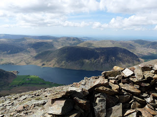 Mellbreak and Crummock Water from Grasmoor summit