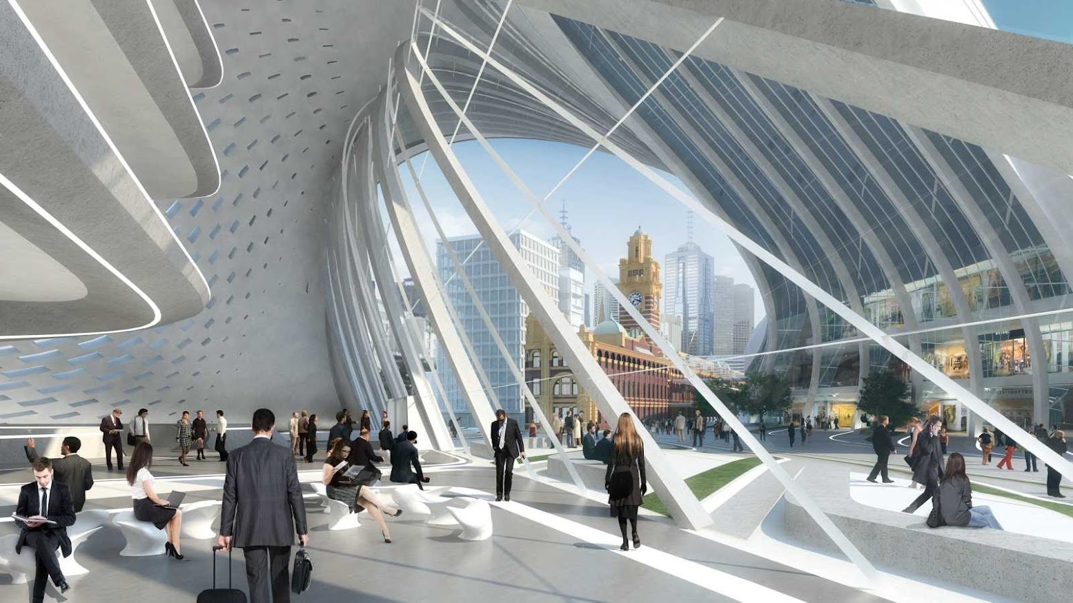 Melbourne Victoria, Australia: [FLINDERS STREET STATION DESIGN COMPETITION BY ZAHA HADID+BVN ARCHITECTURE]