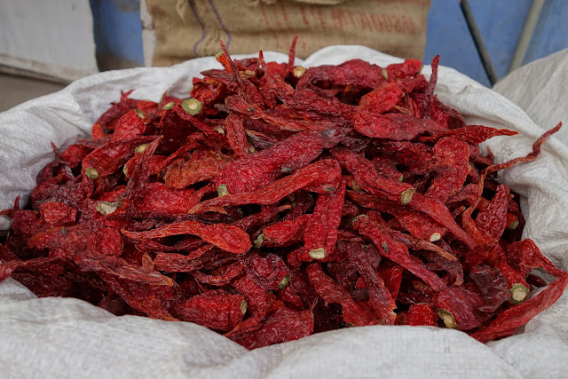 Beautiful dried chili peppers.