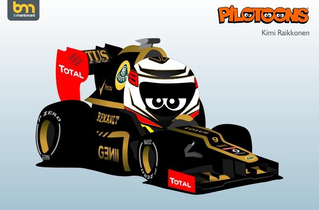 pilotoons 2012 Lotus E20 и Кими Райкконен