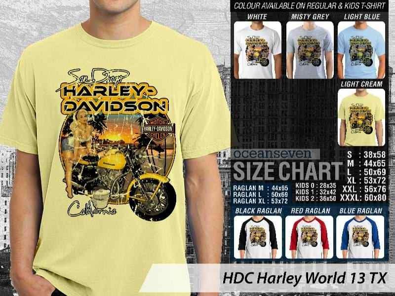 Kaos Motor Harley Davidson World 13 distro ocean seven