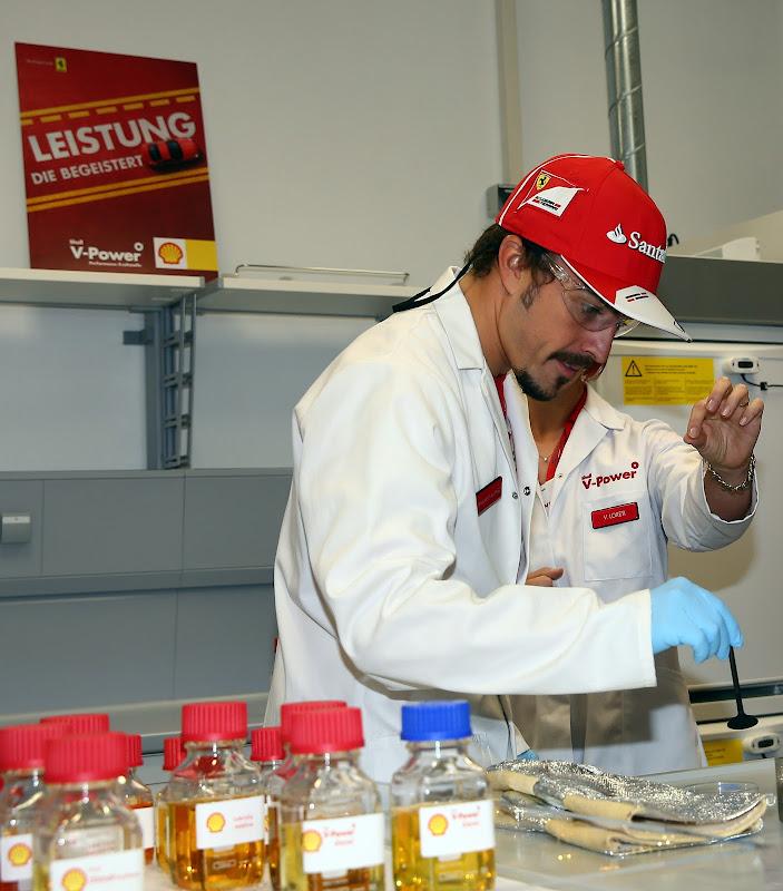 Фернандо Алонсо на спонсорском мероприятии Shell на Гран-при Германии 2013