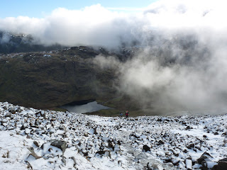 A snowy and icy ascent from Styhead
