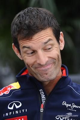 улыбающийся Марк Уэббер на Гран-при Канады 2013