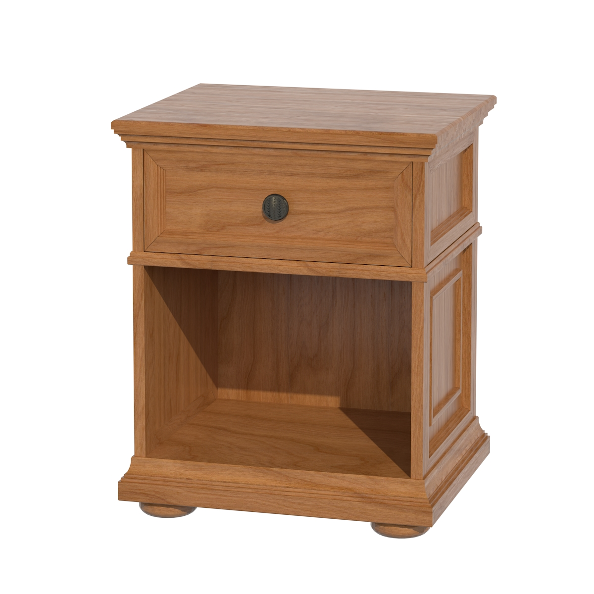 Edinburgh Nightstand With Shelves Solid Wood Nightstand
