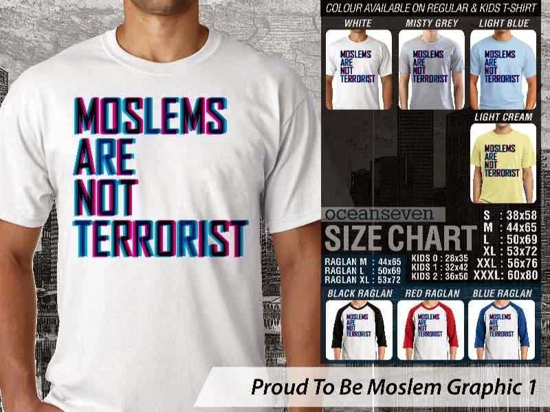 KAOS Islam Muslim Moslems are not terrorist Proud To Be Moslem Graphic 1 distro ocean seven