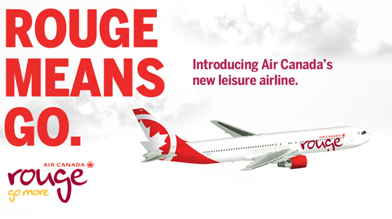 "Air Canada Introduces ""Rouge"" Go More Campaign"