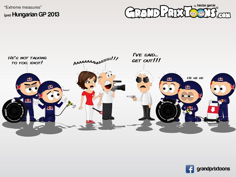Берни Экклстоун и экстримальные меры - комикс Grand Prix Toons перед Гран-при Венгрии 2013