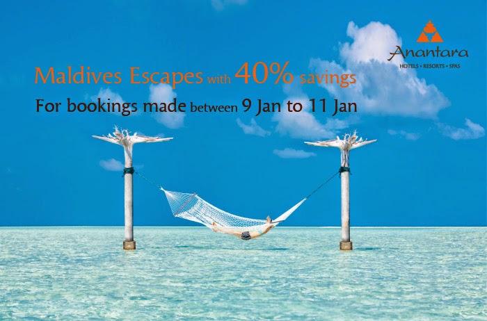 著名既5星級Resort,Anantara旗下馬爾代夫4間Resort酒店減價優惠,低至6折,只限3日。
