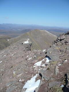 Ridge down from Bidein a Ghlas Thuill