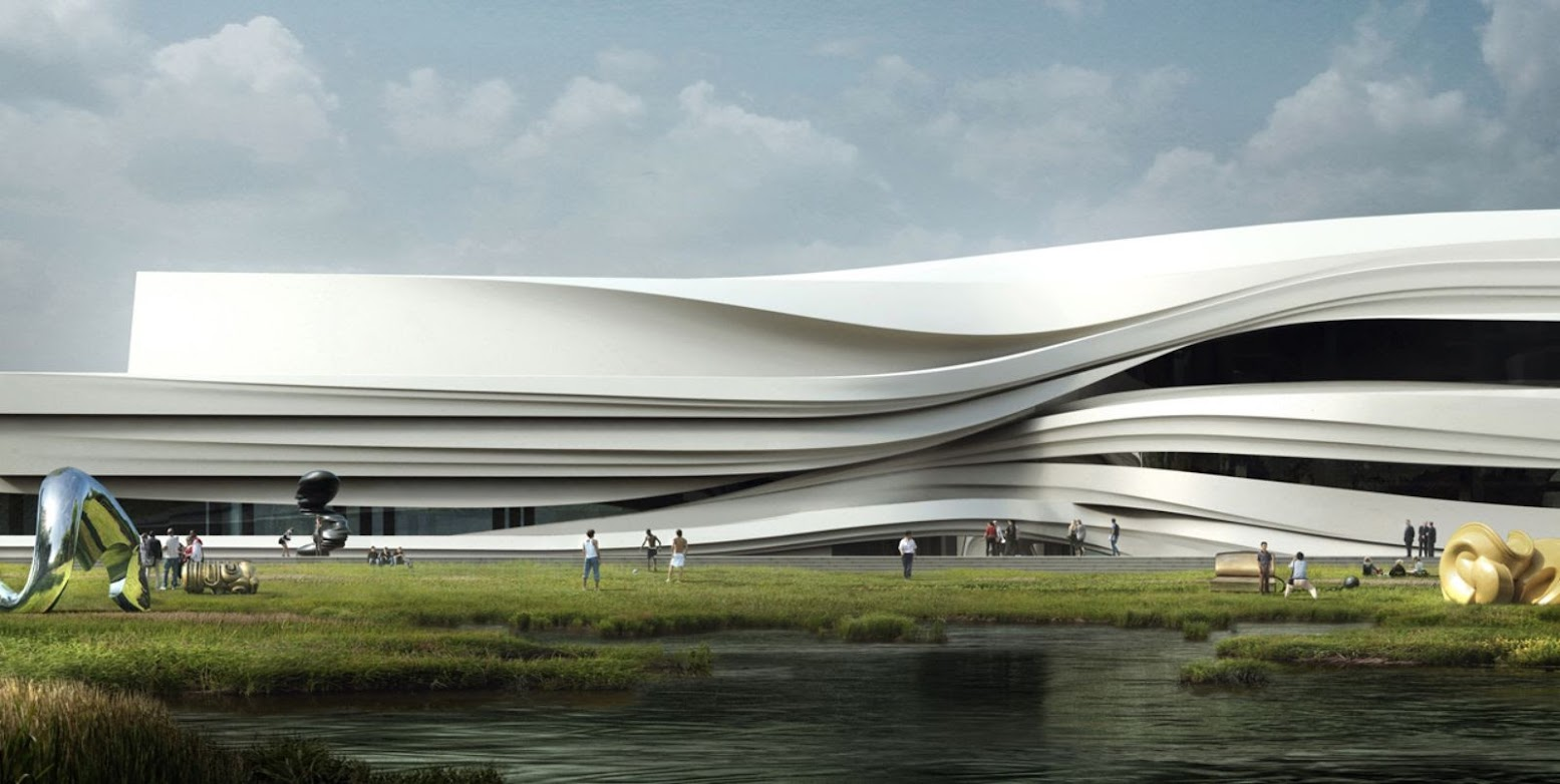 Yinchuan, Ningxia, Cina: [YELLOW RIVER ARTS CENTRE BY WAA]