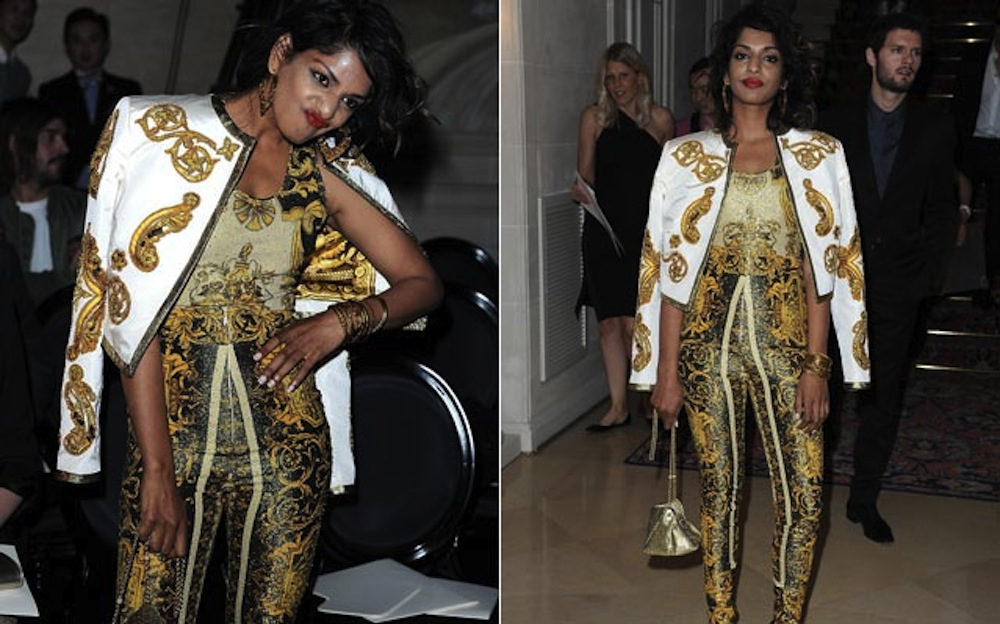 M.I.A. in Vintage Versace
